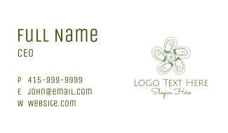 Green Oyster Shell Business Card