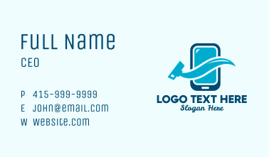 Mobile Phone Cleaner  Business Card