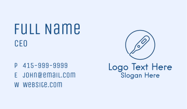 Clinic Health Thermometer Business Card