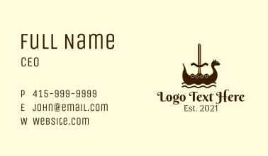 Viking Boat Sword Business Card