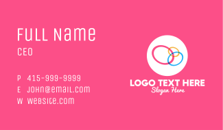 Colorful Rings Business Card