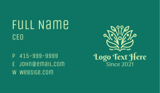 Minimalist Natural Product Business Card