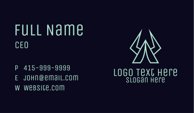 Tent Horn Camping Business Card
