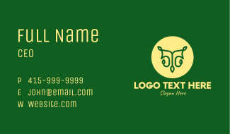 Tree Vine Letter T Business Card