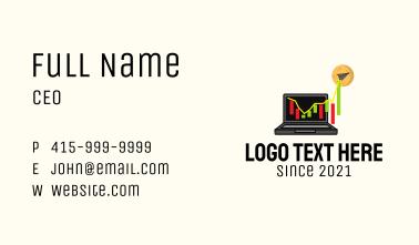 Digital Stock Market  Business Card