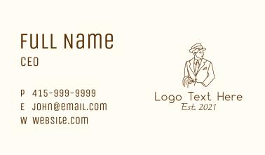 Smoking Cigar Man Business Card