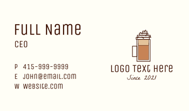 Coffee Frappe Pitcher Business Card