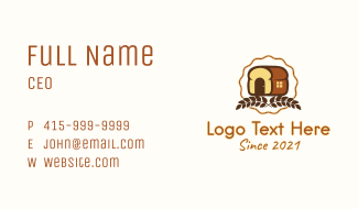Loaf Bread House  Business Card