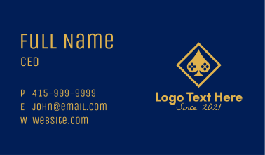 Gold Gaming Poker  Business Card
