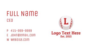 Baseball League Letter  Business Card