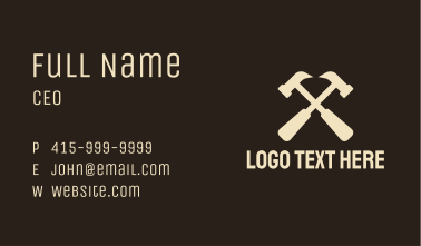 Hammer Carpentry  Business Card
