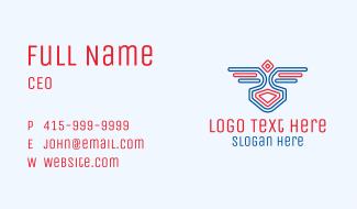Bird Wings Emblem Business Card
