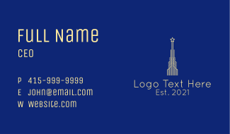 Yellow Star Tower Business Card