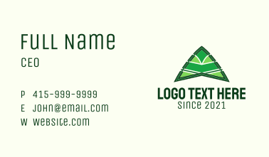 Modern Camping Tent  Business Card