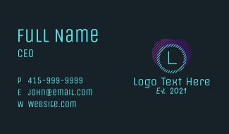 Multicolor Line Letter Business Card