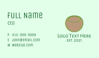 Coconut Line Art Business Card