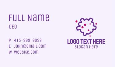 Purple Coronavirus Outline Business Card