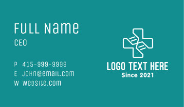 Medical DNA Cross Business Card