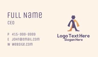 Formal Wear Man Business Card