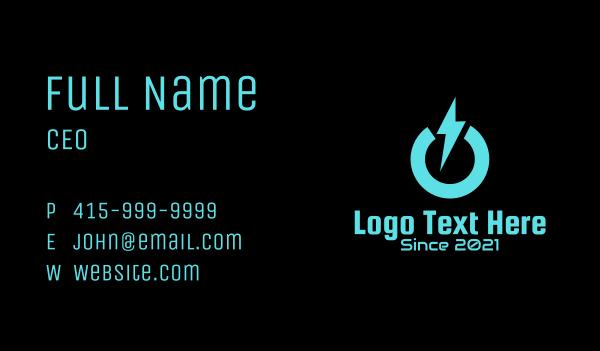 switch - Lightning Power Bolt Business card horizontal design