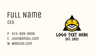 Tribal Triangle Eye Business Card