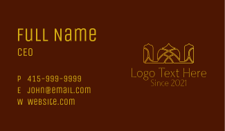 Religious Arabic Temple Business Card
