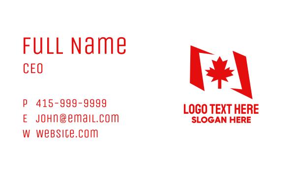 north america - Canada Maple Flag  Business card horizontal design