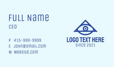 Blue Triangular Eye Business Card