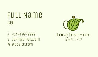 Leaf Teapot Business Card
