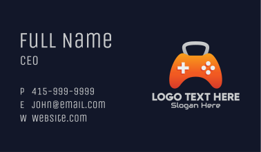 Kettlebell Gaming Console Business Card