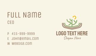 Minimalist Cactus Scenery Business Card