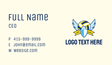 Volleyball League Eagle Business Card