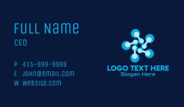 Blue Digital Flower Business Card
