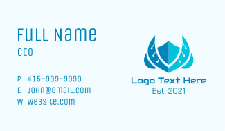 Anti Virus Winged Application Business Card