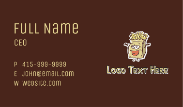 French Fries Mascot  Business Card