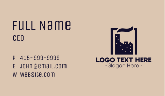 City Factory Business Card