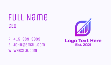 Purple Bar Diagram  Business Card