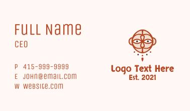 Mayan Ritual Mask  Business Card