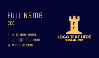 Film Castle Tower Business Card