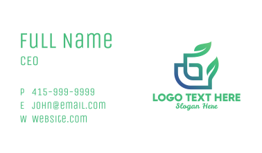 Leafy Bamboo Letter G Business Card