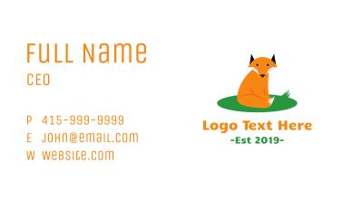 Cute Wild Fox Business Card