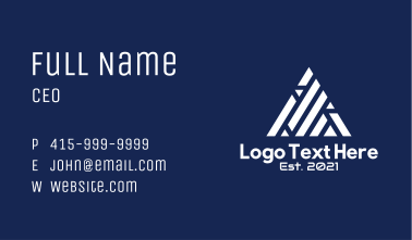 White Digital Pyramid  Business Card