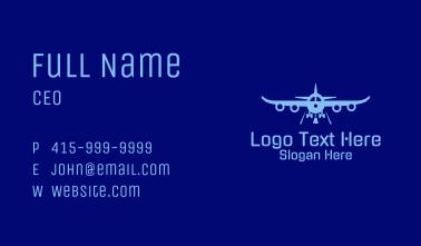 Blue Aviation Airplane Business Card