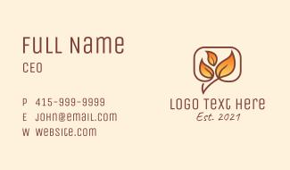Gradient Autumn Leaves Business Card