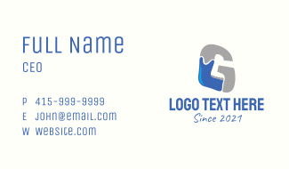 Jaw Doctor Letter G Business Card