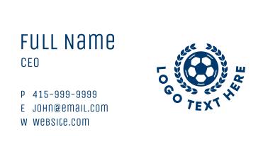 Soccer Ball Emblem Business Card