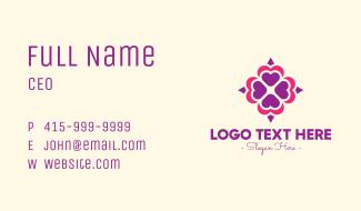 Fancy Spa & Wellness Mandala Business Card