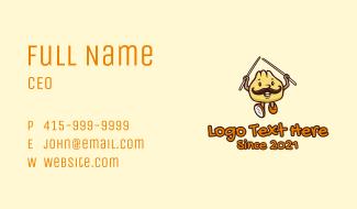 Dumpling Restaurant Mascot Business Card