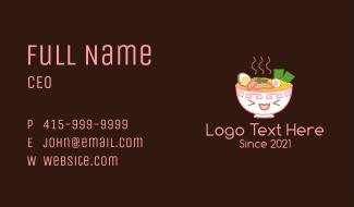 Ramen Noodles Mascot Business Card