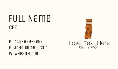 Brown Mayan Statue Business Card